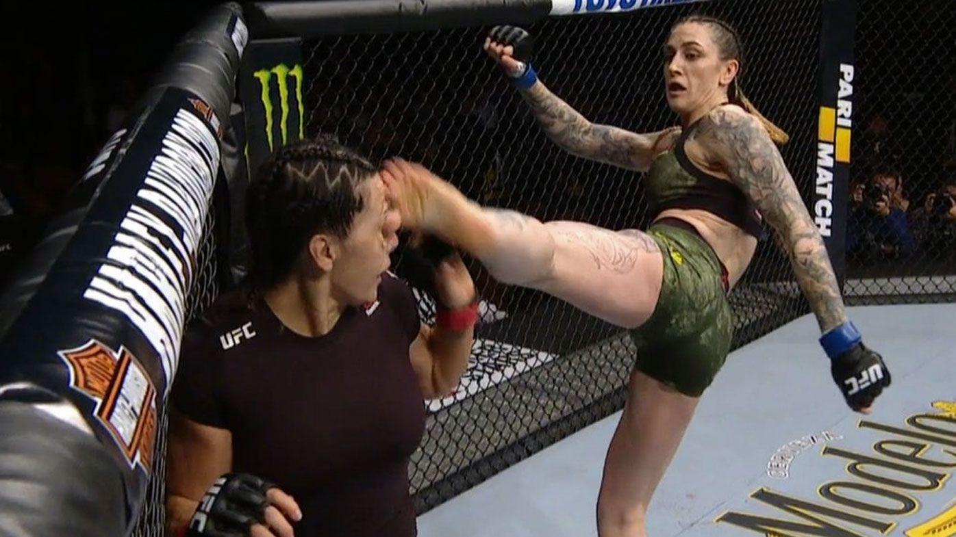 UFC 232: Australian Megan Anderson wins via bizarre TKO over Cat Zingano