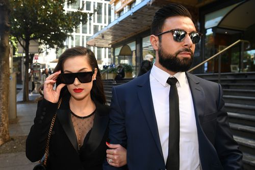 Fatima Mehajer leaves court after narrowly avoiding jail. Picture: AAP