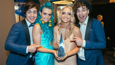 George, Amy, Emma and Jay from the band Sheppard at the ARIAs.