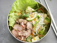 Lemon grass lamb with vietnamese vermecelli salad