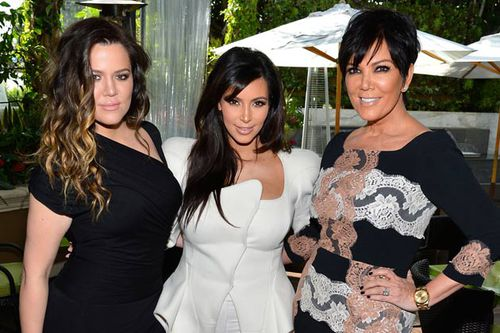 Khloe and Kim Kardashian with mother Kris. (Supplied)