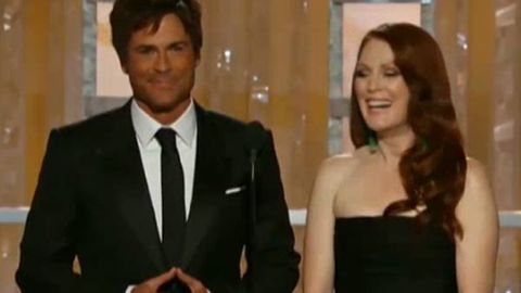 Rob Lowe and Julianne Moore speechless at the Golden Globes