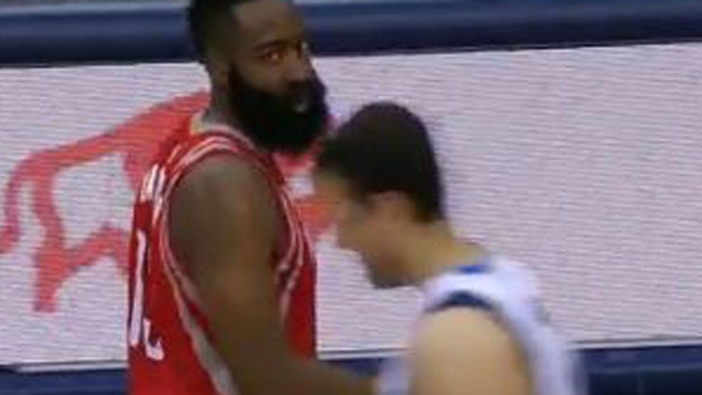 Harden gets last laugh in heated NBA clash with Bogut