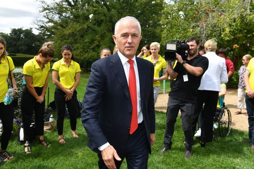 Prime Minister Malcolm Turnbull at a Commonwealth Games Team and Staff Reception at The Lodge in Canberra.