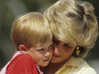 Harry and Diana in Spain in 1987.