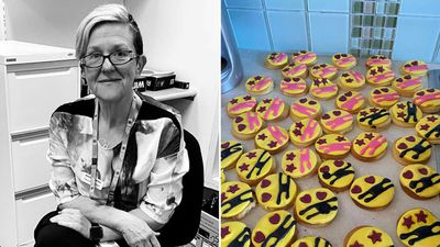 A Melbourne woman baked thousands of cookies to spread joy