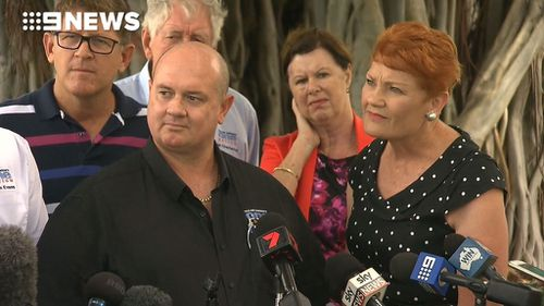 The One Nation federal leader said she will speak with her Queensland leader before further discussing the matter (Image: 9News)