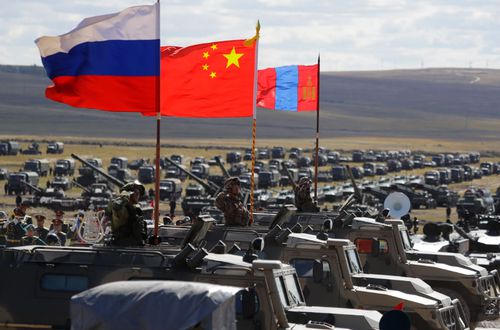 Troops from China and Mongolia joined Russian forces in the massive show of force.