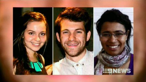 Bridget Jones, Alexander Jones and Marie-Faith Fiawoo were all killed in the wall collapse. (9NEWS)