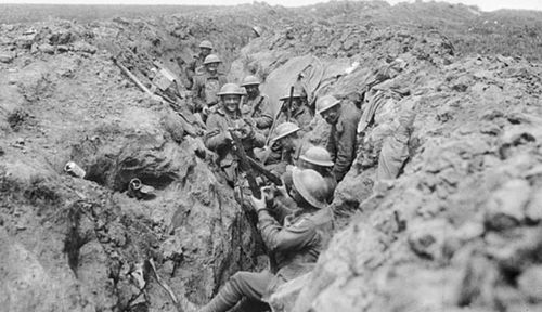 Australian soldiers during the Battle of Bullecourt in 1917. (Photo: Australian War Memorial).
