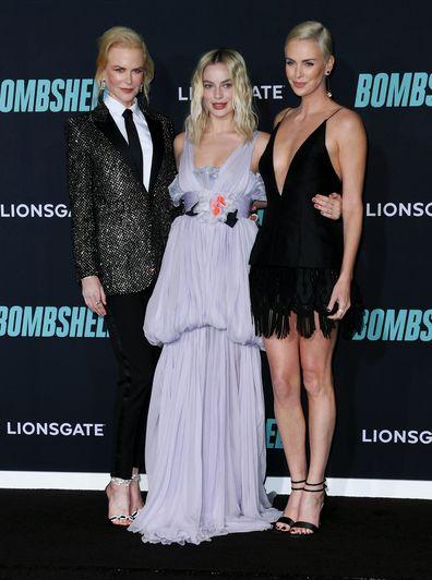 Nicole Kidman, Margot Robbie, Charlize Theron, Bombshell premiere