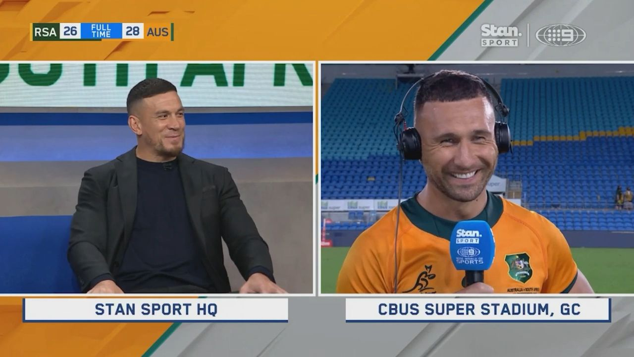 Rugby Championship: Quade Cooper pays emotional tribute to Sonny Bill Williams after game winner
