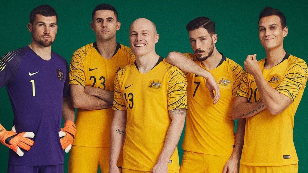 3f18b07e362 New Socceroos Nike kit revealed for 2018 World Cup in Russia