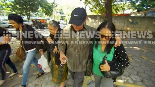 The family of accused killer Mario Santoro have refused to answer questions by 9NEWS. Picture: 9NEWS