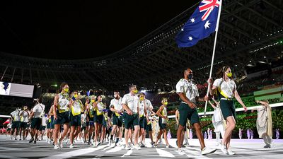 Australian squad  marches successful  the opening   ceremony