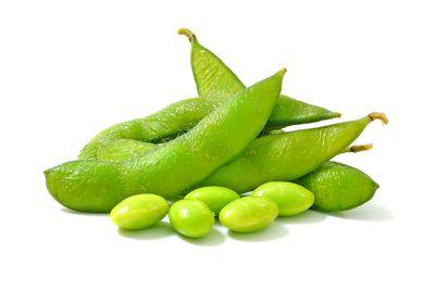 Edamame beans: 150mg per half a cup