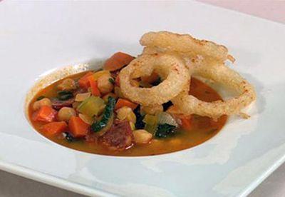 Make: Chorizo and chickpea soup