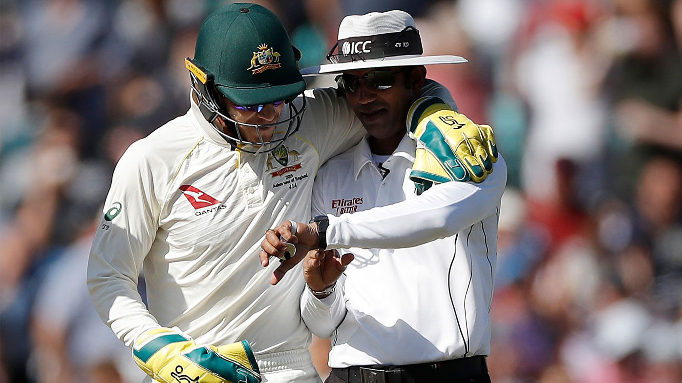Paine and umpire Dharmasena