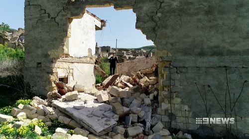 The ruins of the old city remain frozen in time. Picture: 9NEWS