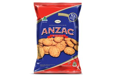 Anzac Biscuit: 63 calories/260kj per biscuit