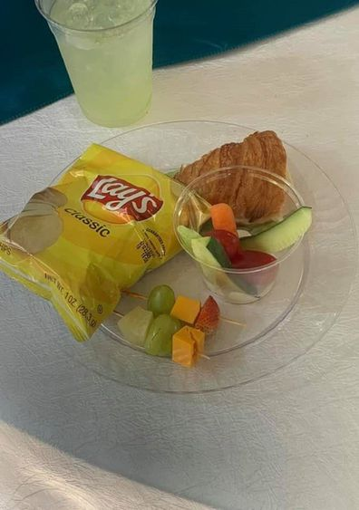The meal was described as a 'toddler' snack.