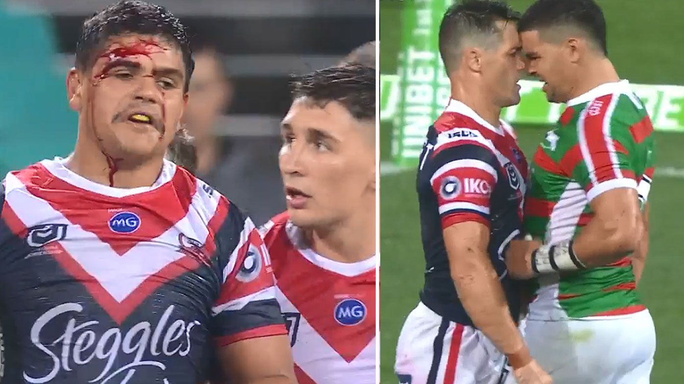 South Sydney stun reigning NRL champion Roosters in 'heated' clash at the SCG