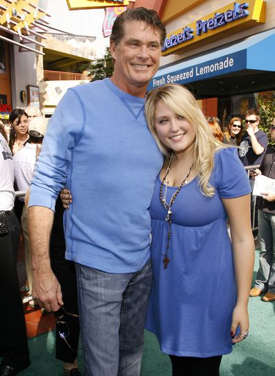 """David Hasselhoff and daughter Hayley Hasselhoff during """"Evan Almighty"""" World Premiere Presented by Universal Pictures - Red Carpet and After Party."""