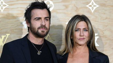 Justin Theroux and Jennifer Aniston in 2017.