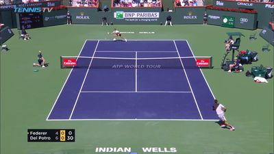 Federer blows up during Indian Wells loss to Del Potro