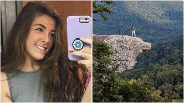 Andrea Gordon fell to her death while taking a selfie at Hawksbill Crag a popular lookout at Ozark National Forest in Arkansas.