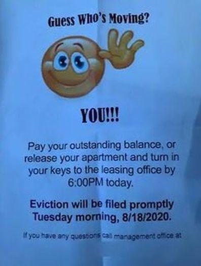 Sonja Lee Eviction Notice