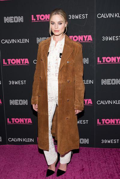 Margot Robbie at the <em>I, Tonya</em>  premiere in New York on November 28, 2017