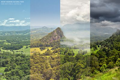 Mount Warning National Park in New South Wales, Australia