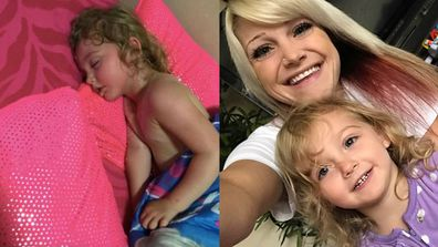 The snap of three-year-old Anastasia suffering heatstroke that has the internet in a huff. Image: Facebook