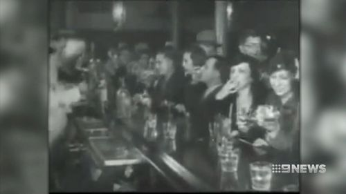 People drink at the secret bars during the prohibition. (9NEWS)
