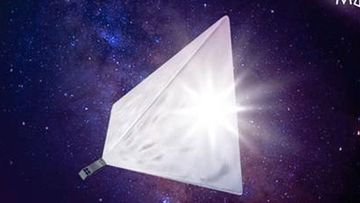 An artist's impression of the satellite.