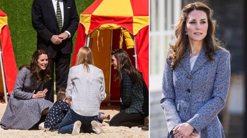 Kate attended the playground opening at Hampton Court Palace. (AFP)