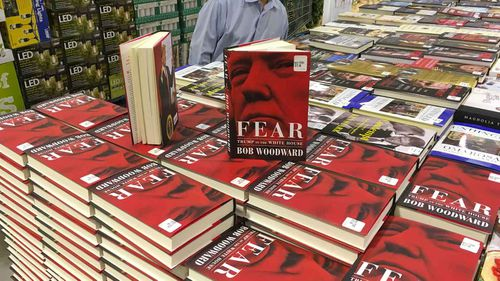 Copies of Bob Woodward's 'Fear' for sale at Costco.