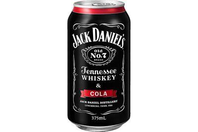 Jack Daniel's Tennessee Whiskey & Cola (375ml): 1069kj