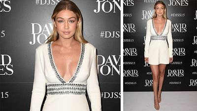 American model Gigi Hadid made an appearance while she is in Australia for Guess. (AAP)