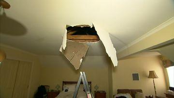 'Burglar' falls through ceiling of Melbourne home