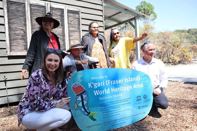 Fraser Island renamed to K'gari: Meaghan Scanlon attended the renaming ceremony along with traditional owners