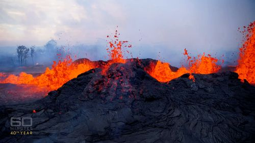 Kilauea continues to spew more than 100,000 litres of lava every second.