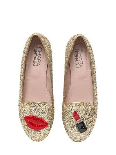 "<a href=""http://www.luisaviaroma.com/index.aspx#ItemSrv.ashx|SeasonId=62I&CollectionId=047&ItemId=15&SeasonMemoCode=actual&GenderMemoCode=women&VendorColorId=R09MRA2&CategoryId=&SubLineId=shoes"" target=""_blank"">Loafers, $380, Chiara Ferragni at LuisaViaRoma.com<br /></a><br />"