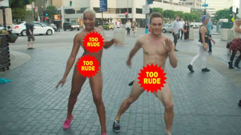 Watch: Naked couples dance the streets for new show Dating Naked