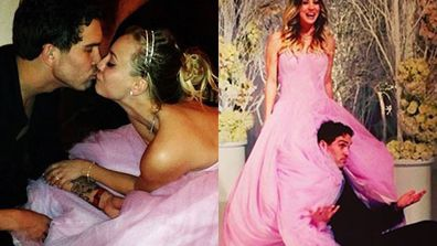 "And you thought your New Year's went off with a bang! <br/><br/><i>Big Bang Theory</i> star Kaley Cuoco celebrated the New Year by marrying her sweetheart of six months, tennis player Ryan Sweeting in a lavish ""fire and ice"" themed ceremony in California.<br/><br/>Check out their snaps from the big day here…<br/>"