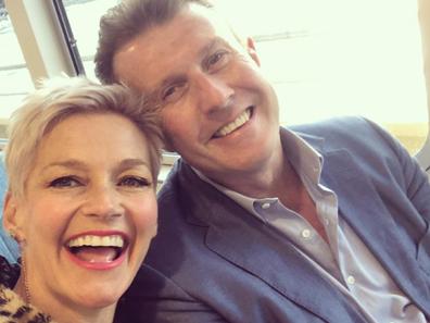 Jessica Rowe and Peter Overton selfie