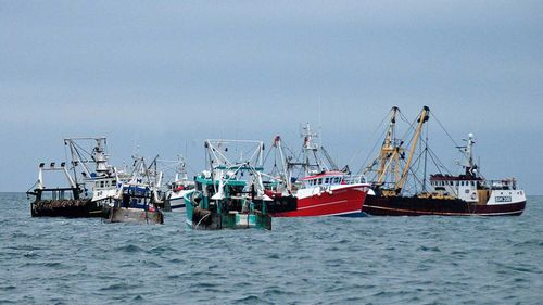 French and British trawlers in a previous confrontation in 2012.