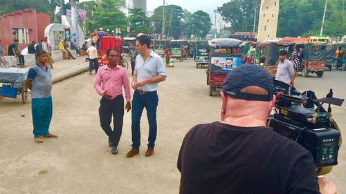 Peter Stefanovic and the 60 Minutes crew visited Bangladesh to investigate the death of  Raudha Athif. (60 Minutes)