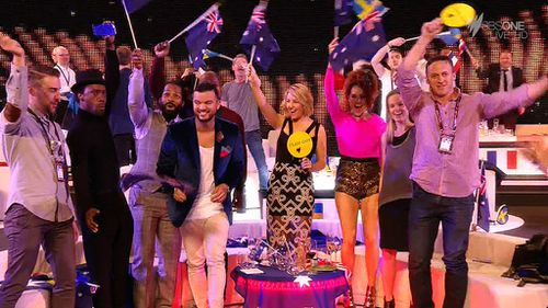 Guy Sebastian was applauded at Eurovision. (SBS)